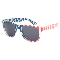 Blue Crown Tribal America Way Classic Sunglasses Red/White/Blue One Size For Women 26181694801