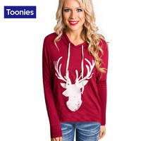 Women's T Shirts Christmas Tee Long Sleeve Casual Loose Womens top