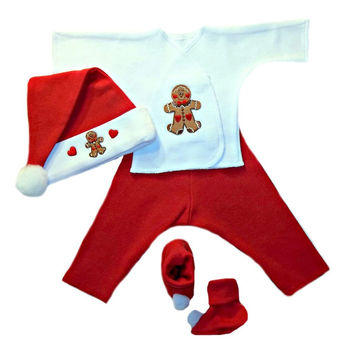 Gingerbread Baby Boy Christmas Outfit