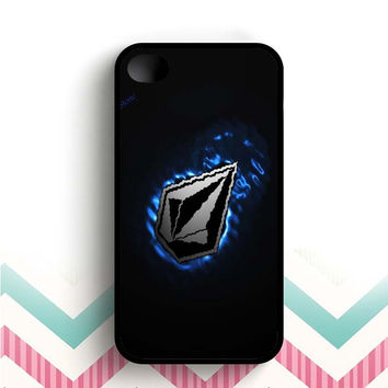 volcom stoen blue black  iPhone 4 and 4s case