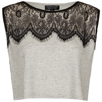 Eyelash Lace Crop Top - Sale - Sale & Offers - Topshop USA