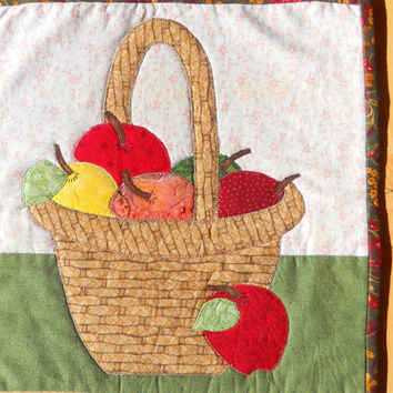 Autumn Quilted Wallhanging, Fall Wallhanging, Thanksgiving Wallhanging, Harvest Wallhanging.