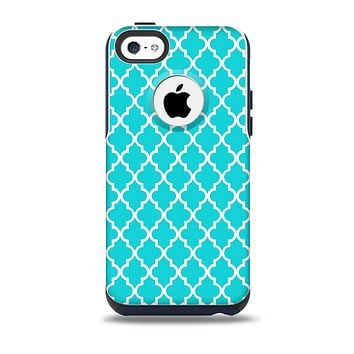 The Morocan Teal Pattern Skin for the iPhone 5c OtterBox Commuter Case