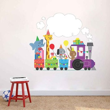 Wall decal train wall decal train decal wall decal nursery train decal train wall art train decor train sticker train sticker kcik1773