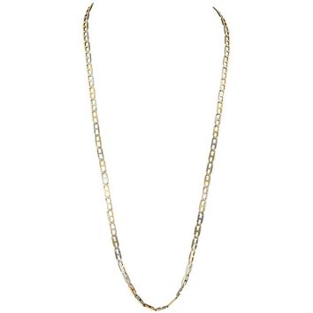 Hermes Two Color Gold Chain necklace
