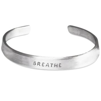 Breathe- Stamped Bracelet