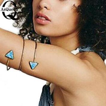 Natural Stone Gold Arm Cuff Armlet