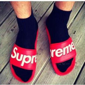 DCCKIG3 SUPREME NEW MEN AND WOMEN SANDALS SLIPPERS SHOES