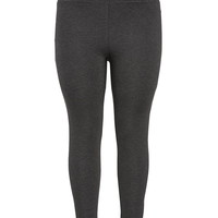 Plus Size - The Skinny Knit Pant In With High Waist - Charcoal