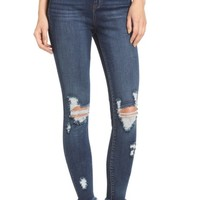 SP Black Distressed High Waist Skinny Jeans | Nordstrom