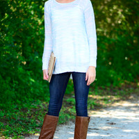 Breathe Easy Sweater, Blue