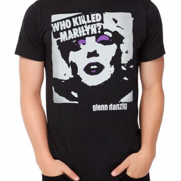 Misfits Danzig WHO KILLED MARILYN T-Shirt 100% Authentic & Official