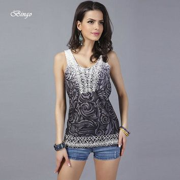 DCK9M2 Women summer tops 2016 European & American free size vest female Fashion embroidered vest embroidered sleeveless tanks & camis
