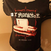 Vintage My Chemical Romance reconstructed shirt cut into tank