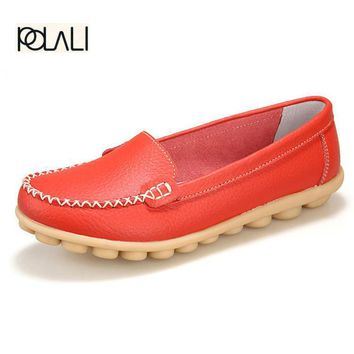 2017 New Artificial Leather Women Shoes Causal Soft Woman's Flats Female Moccasins Sap