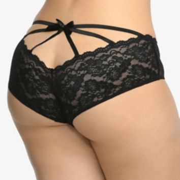 Cage Back Lace Cheekini Panty
