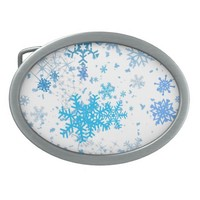 Christmas Snowfall Belt Buckle