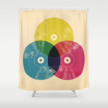Music is the colors of life Shower Curtain by Budi Satria Kwan