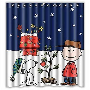 Peanuts Christmas Shower Curtain