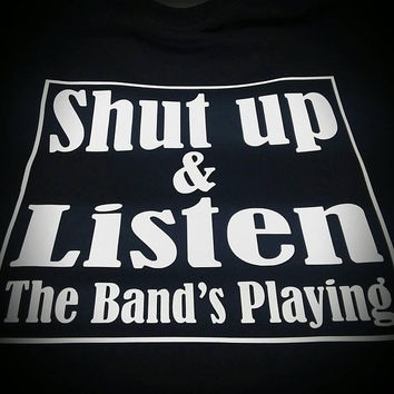 Shut Up and Listen Concert Graphic Black T-Shirt