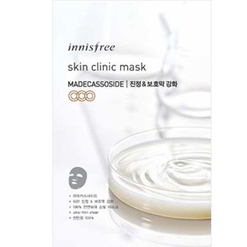 INNISFREE SKIN CLINIC MASK, MADECASSOSIDE, CALMING&REINFORCEMENT OF THE SKIN BARRIER