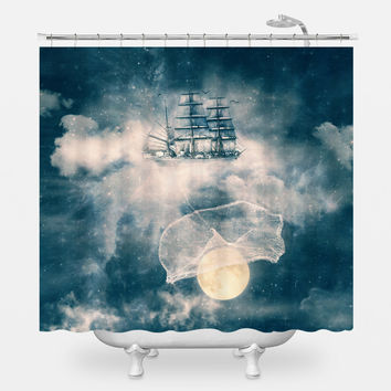 Fishing Stars Shower Curtain