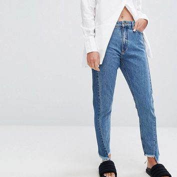 Monki Two Tone Jeans at asos.com
