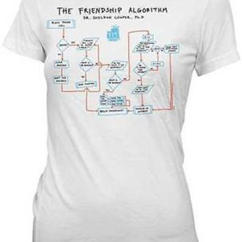 The Big Bang Theory THE FRIENDSHIP ALGORITHM Officially Licensed Junior T-Shirt