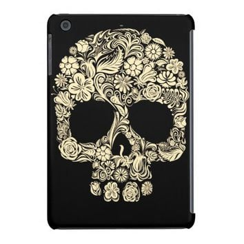 Day of the Dead Floral Sugar Skull iPad Mini Cover
