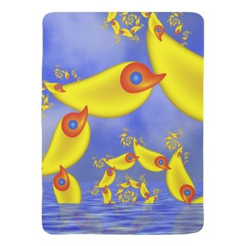 Fantasy Animals for Children Fractal Art Baby Blanket