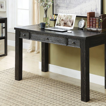 Furniture of america CM-DK6428 Edenberry antique black finish wood lift top writing desk