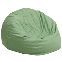 Oversized Solid Green Bean Bag Chair DG-BEAN-LARGE-SOLID-GRN-GG