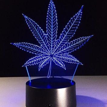 Weed 3D  Lamp