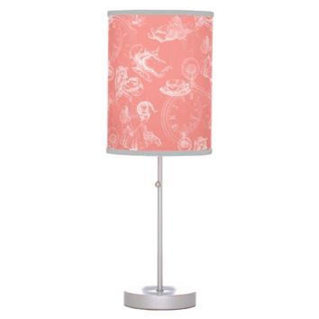 Alice in Wonderland Tea Time Coral Lamp