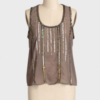 jordana sequins sheer top at ShopRuche.com