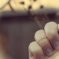 Infinity Knuckle Ring, Midi Ring, Above The Knuckle Ring, Bridesmaid Ring, Friendship Ring, 14k gold filled
