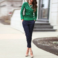 Autumn Winter Sweater Casual O-neck Women Pullovers = 1838887108