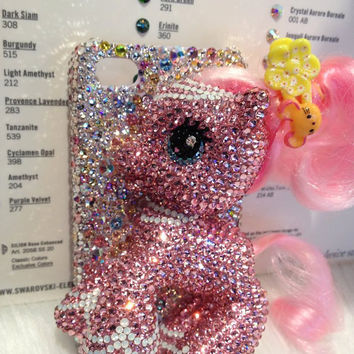 Big my little pony iPhone cover fits iPhone 5 handmade w/ Swarovski element