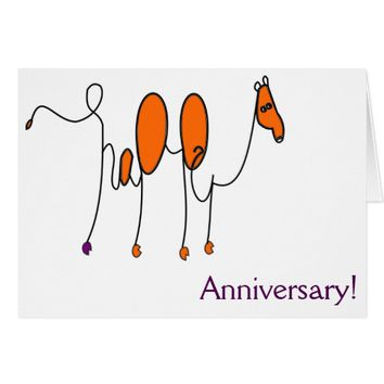 Happy Anniversary Camel Art Card
