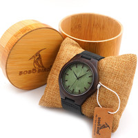 Fashion Mens Luxury Ebony Wood Watch With  Gift Box .