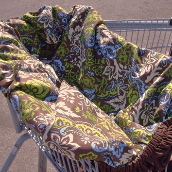 PATTERN, Shopping Cart Cover, Grocery Buggy, Baby, tutorial, REVERSIBLE, Instant Download