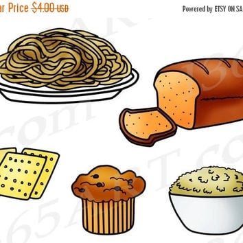 50% OFF SALE Grains Clipart, Grains Clip Art, Food Groups, Fiber, Bread, Muffin, Carbs, Carbohydrates, Printable, Education, PNG, Commercial