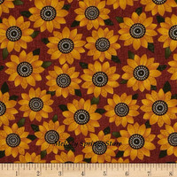 Sunflower Table Runner Reversible Tapered 11 x 40