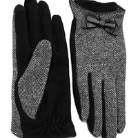 Lauren Ralph Lauren Tweed Style Gloves