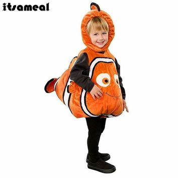 Clownfish Cosplay Costume From Pixar Animated Film Finding Nemo Little Baby Fishy Halloween Christmas Cosplay Costume