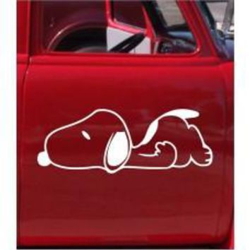 Lazy Dog Car Window Decal Tablet PC Sticker Automobile Mobile Cellphone Truck Bumper Window Wall Laptop Notebook Etc. Any Smooth Surface