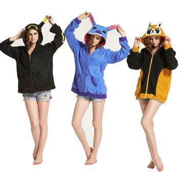 Unicorn Women Men Hoodie Animal Cartoon Jacket  Pikachu unicornio Stitch Cosplay Tracksuits Zipper Gardigan SweatshirtsKawaii Pokemon go  AT_89_9