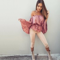 OFF SHOULDER RUFFLE