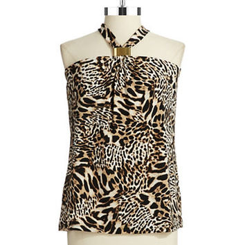 Calvin Klein Animal Print Halter Top
