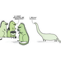Who Invited the Herbivore Art Print by Gemma Correll